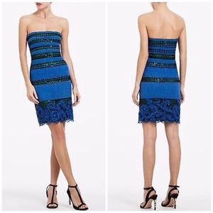 BCBGMaxAzria Manuela Strapless Embroidered Dress
